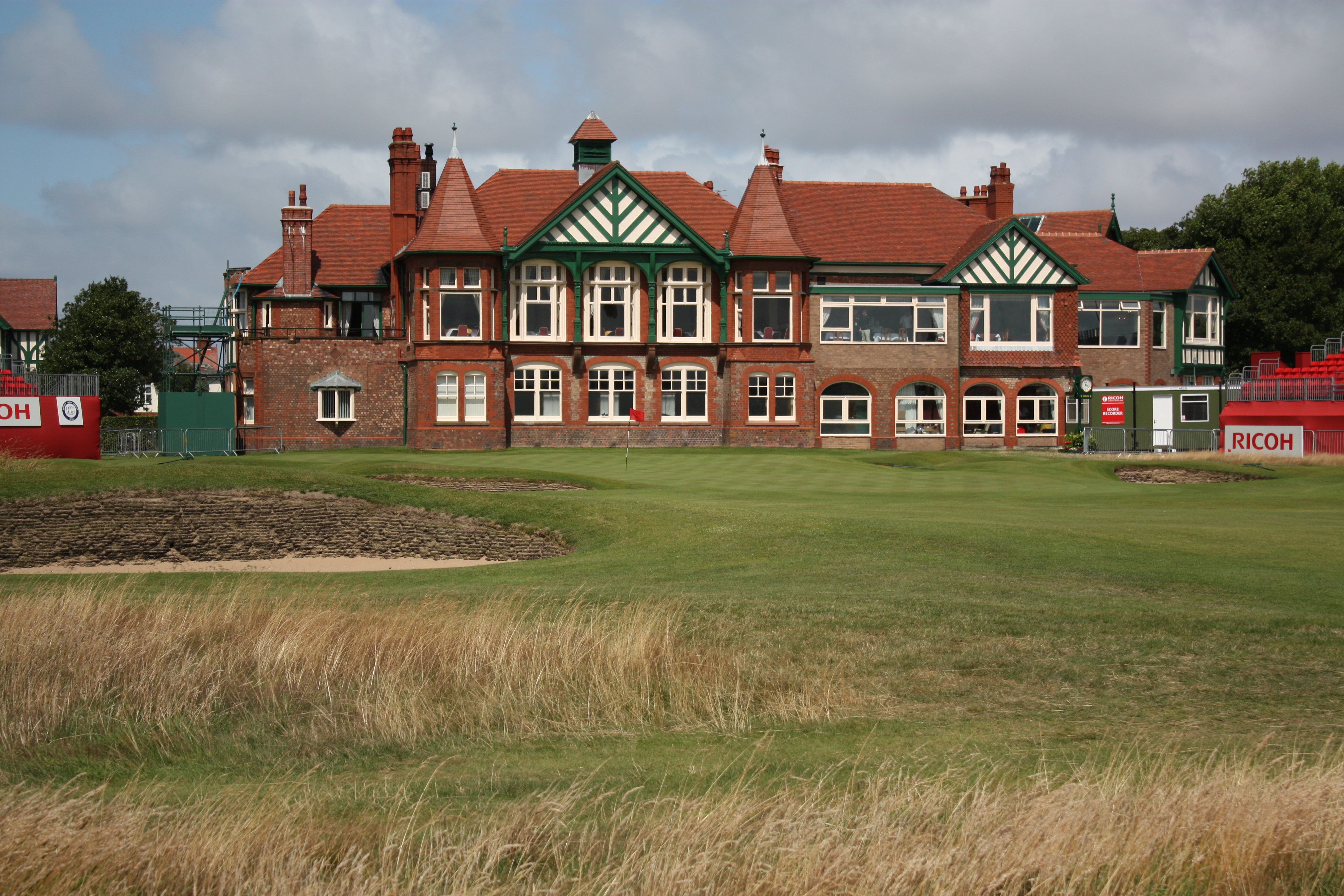 Lytham St Annes United Kingdom  City pictures : LYTHAM ST ANNES, UNITED KINGDOM JULY 27: 18th hole green and the ...